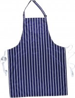 S849 WATERPROOF BIB NAVY/WHITE ONE SIZE
