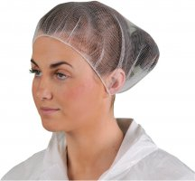 NYLON HAIRNET (100) WHITE ONE SIZE